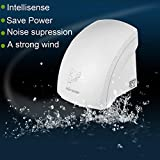 Hindom 1800W Household Hotel Automatic Infared Sensor Hand Dryer,Bathroom Hands Drying Device,Warm Air Electric Wall Mounted 110V US Plug(US Stock)
