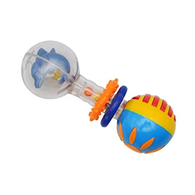 Baby Rattles Toy Teether Shaker and Spin Rattle Musical Toy Set Early Educational Toys for Baby Infant Newborn 1pc Dolphins: Jewelry
