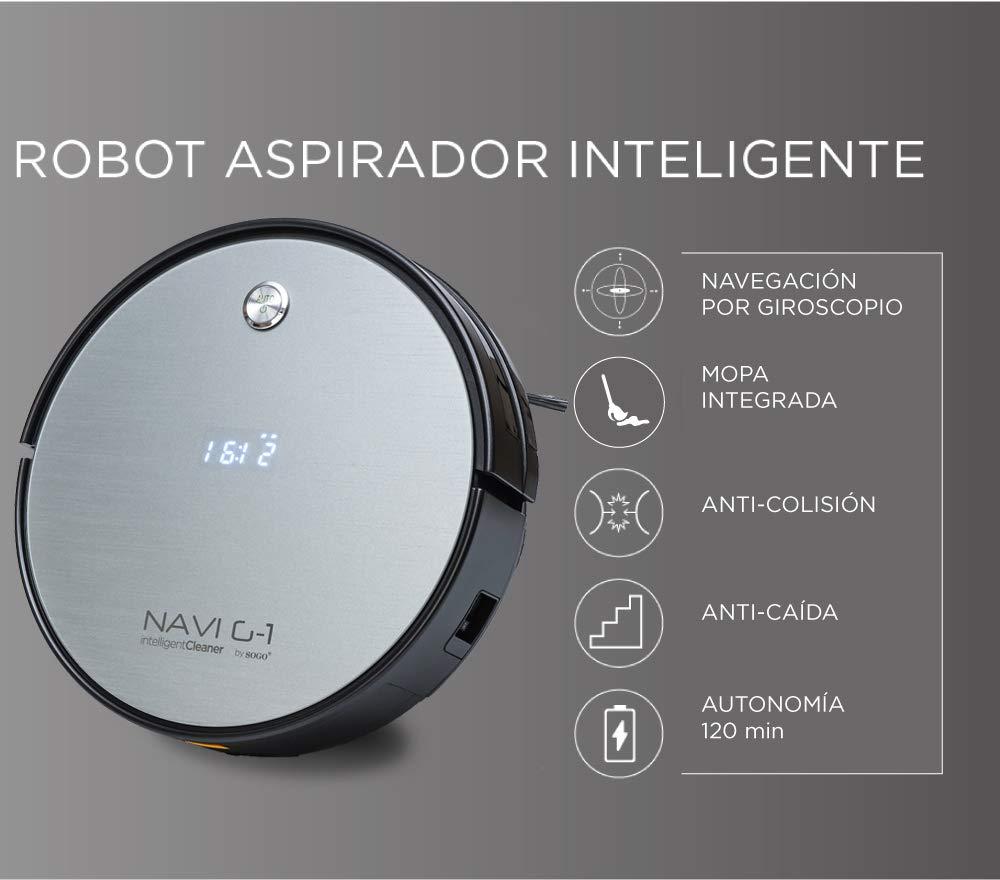 SOGO SS-16075 Robot aspirador NAVI G-1 | Barre y friega: Amazon.es: Hogar