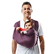 Baby K'tan ORIGINAL Cotton Wrap style Baby Carrier, Eggplant, Medium