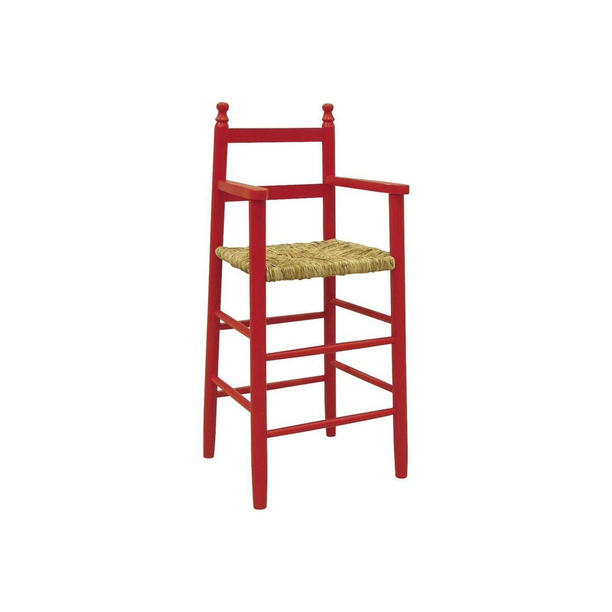 AUBRY GASPARD NCH 1130 Chaise Haute en h/être laqu/é Rouge