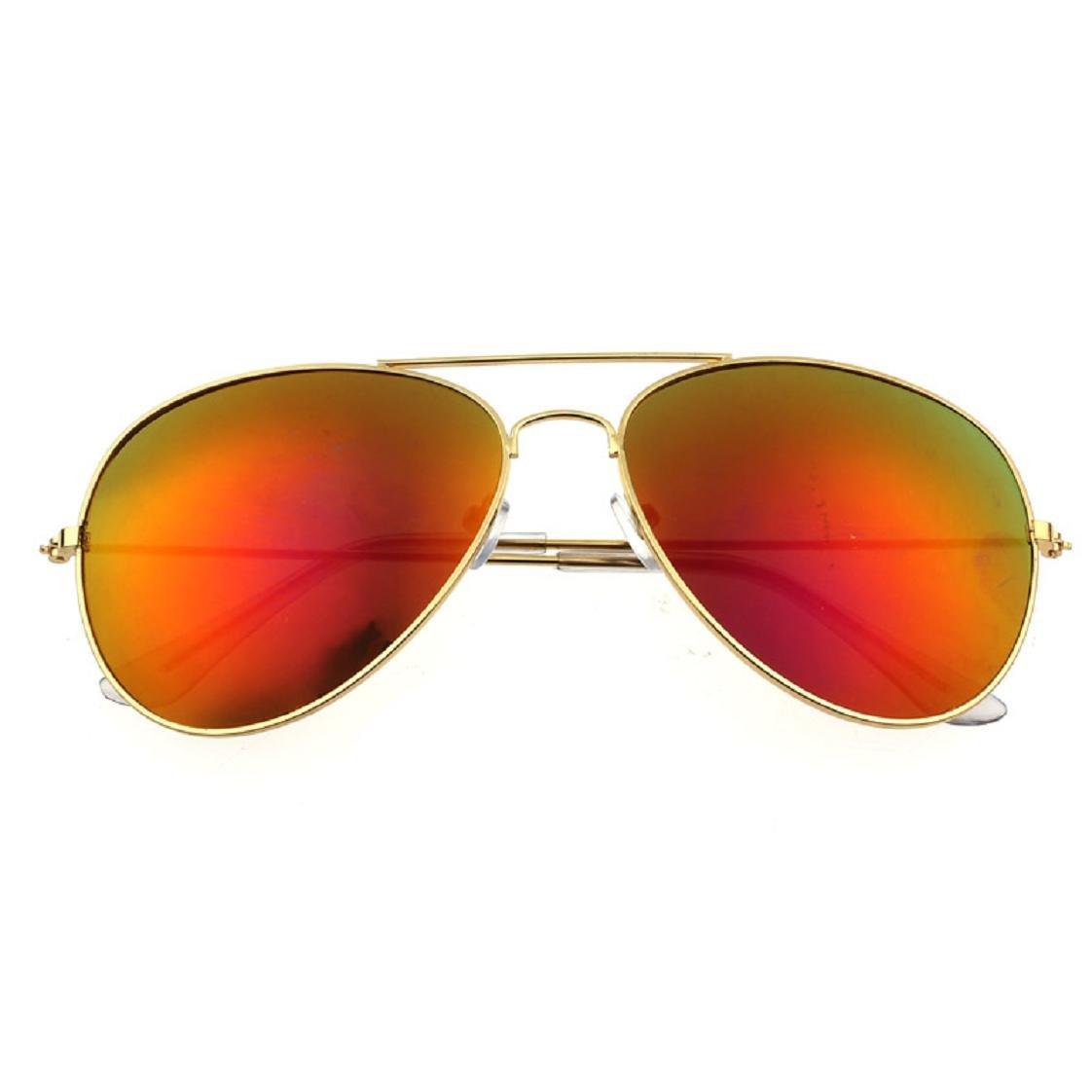 Mchoice Women Men Classic Unisex Retro Sunglasses Metal Frame Green