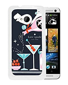 Unique Designed Kate Spade Cover Case For HTC ONE M7 White Phone Case 73