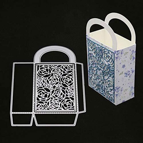 MeikoTan 1 Set Floral Background Box Metal Cutting Dies Stencils for DIY Scrapbooking Album Paper Card Craft Making Embossing Birthday New 2019 Die Cuts 14x10.9cm (Best New Vape Mod 2019)