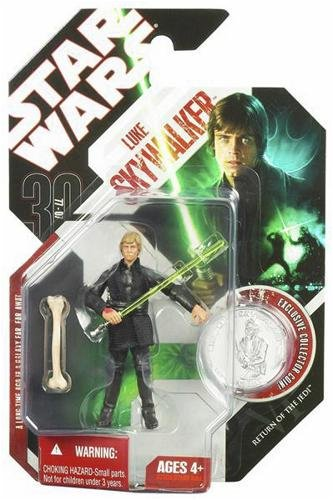 Star Wars 30th Anniversary Luke Skywalker Jedi Knight Action Figure #25 with Coin