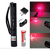 LS Military High Power Green/Red Laser Pointer - Multi Function Tactical Interactive Flashlight Toy for Dogs Cats Kids Adults, Business and Class Presentations, Outdoor Lighter (Red Beam)