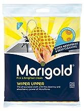 MARIGOLD Limpiaparabrisas Superior Universal Gamuza, Amarillo/Rojo, 12 Pack de 2 Paños