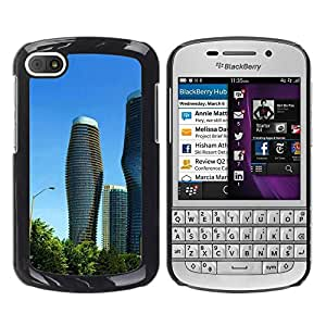 LECELL -- Funda protectora / Cubierta / Piel For BlackBerry Q10 -- Architecture Modern City Towers --