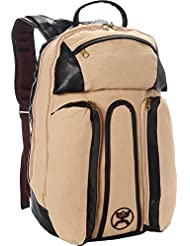 Hooey Vertical Canvas/Leather Laptop Backpack