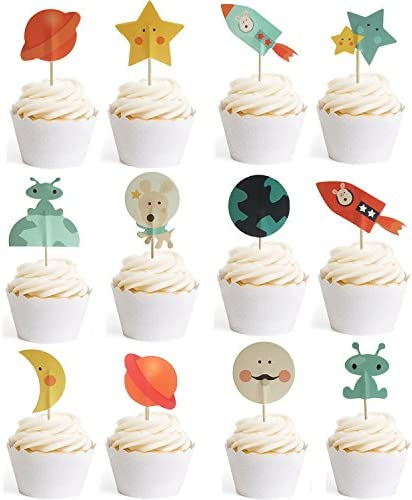 Cupcake Toppers Decorative Spaceship GOCROWN product image