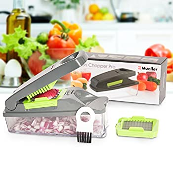 Onion Chopper Pro Vegetable Chopper By Mueller - Strongest - No More Tears Heavier Duty Multi Vegetable-fruit-cheese-onion Chopper-dicer-kitchen Cutter 1