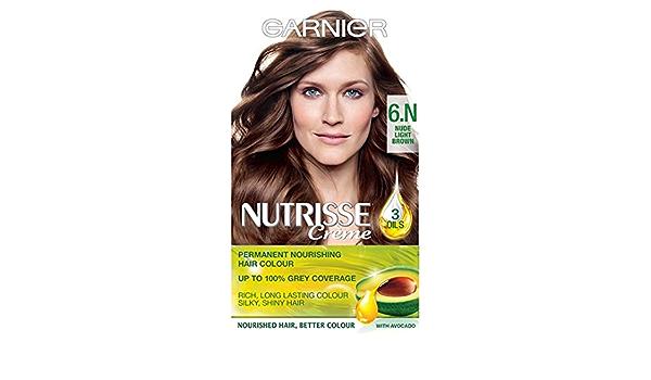 Garnier Nutrisse Creme 6 N Nude luz marrón: Amazon.es: Salud ...