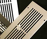 8 x 12 Silver Modern Linear Ceiling and Wall Air Returns and Grilles (10'' x 14'' Overall)
