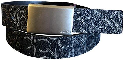 Calvin Klein Men's Reversible CK Logo Synthetic Leather Belt Black 34