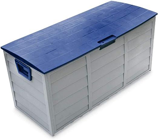 GGYSSY Contenedor para Uso General Impermeable al Aire Libre, Cofre de Juguete para Herramienta de cojín para Muebles, Caja de Almacenamiento Exterior para cobertizo de jardín, Capacidad 290L: Amazon.es: Jardín