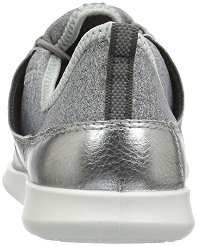 ECCO Sneaker Toggle Alusilver Fashion Sense Elastic Women's Concrete BgwqBra