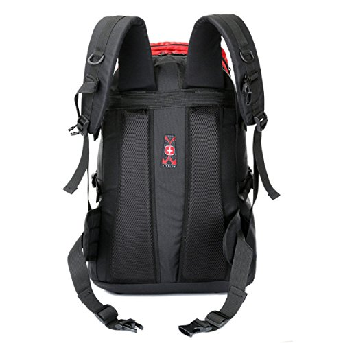 Outdoor Sport Bergsteigen Tasche Camping Wandern Tasche Rucksack,Red Black