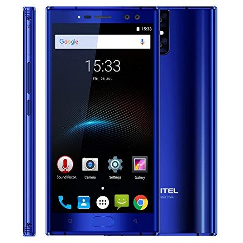 OUKITEL K3 4 GB + 64 GB 5.5 اینچ 6000mAh باتری آندروید 7.0 MTK6750T Octa Core تا 1.5GHz WCDMA و GSM & FDD-LTE (آبی)