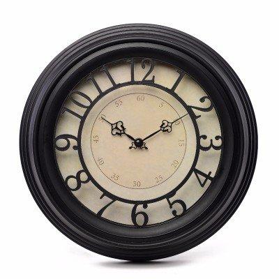 KHSKX 14 pulgadas vintage antiguo vestíbulo salón reloj de pared reloj reloj digital personalidad creativa familia