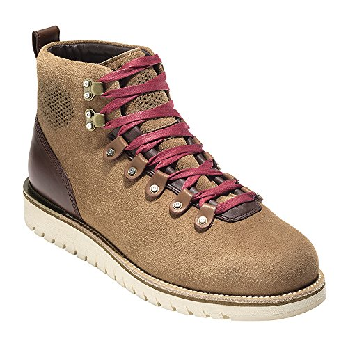 Cole Haan Men's GrandExplOre Waterproof Alpine Hiker Boot 10 Burnt Sugar Waterproof Suede-Angora