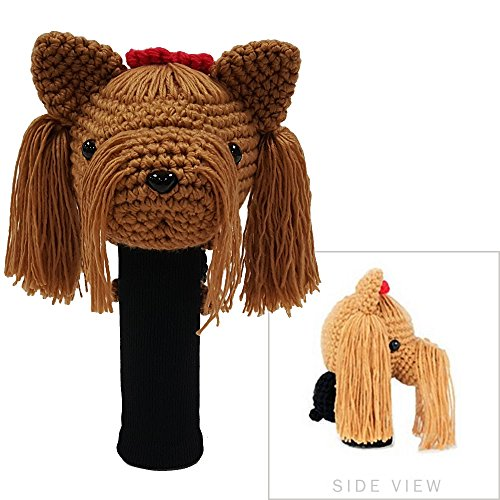 - StitchHead Hand Stitched Yarn Animal Driver/Wood Head Cover - Yorkshire Terrier