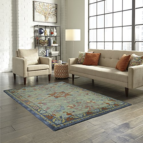 Area Rugs, Maples Rugs [Made in USA][Tilda Artwork Collection] 7' x 10' Non Slip Padded Large Rug for Living Room, Bedroom, and Dining Room by Maples Rugs (Image #3)