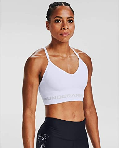 Under Armour Favourite Cotton Grey /& Pink Sports Bra for Women Gym Yoga Jog New