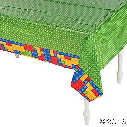 Plastic Color Brick Party Tablecloth