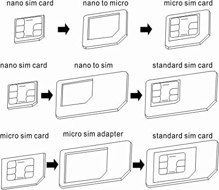 Amazon.Com: Nano Sim To Micro/ Standard Sim Adapter + Micro Sim To