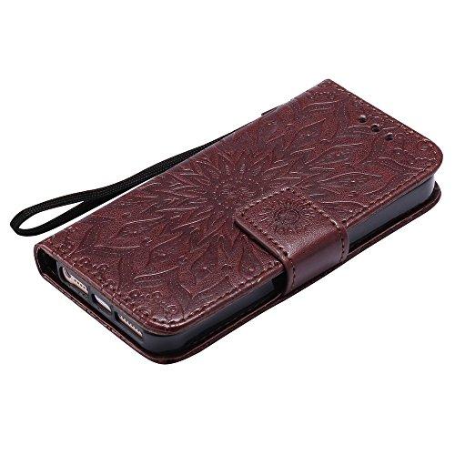 Coque Aimant en Housse 5S avec iPhone Rabat Cuir 5 Portefeuille Carte Porte Lomogo Fermeture par 46dqw