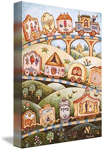 Imagekind Wall Art Print Entitled Holiday Mitzvah Train by Michoel Muchnik | 7 x 10