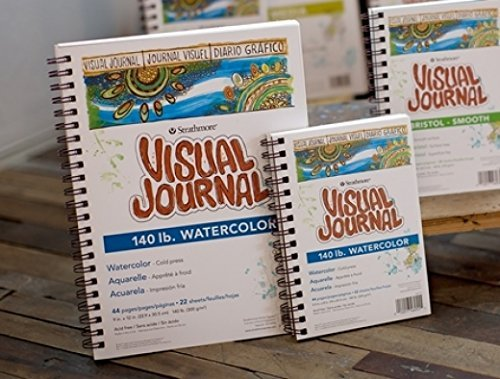 140 LB 5.5x8 Cold Press Wire Bound Strathmore 400 Series Visual Watercolor Journal 22 Sheets