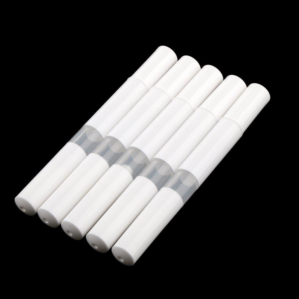 Blanc perfeclan Stylo Vide De Torsion De R/écipient Dhuile De Vernis /à Ongles//Cuticule Avec Le Portatif De Voyage De Brosse