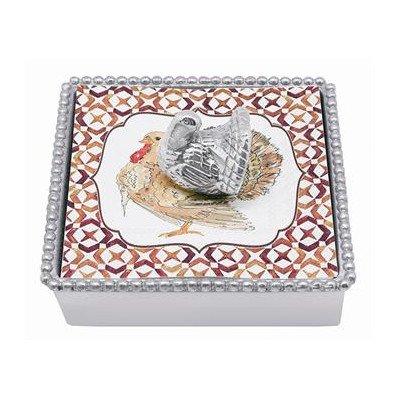 Mariposa Turkey Beaded Napkin Box ()