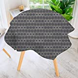 kitchen 67 bistro PRUNUS Circular Solid Polyester Tablecloth-Ethnic Boho Print Cloth Design Wallpaper for Wedding Restaurant Buffet Table Decoration 67