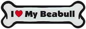 "Refrigerator Magnet - Dog Bone - I Love My Beabull (Beagle, Bulldog) - 7"" x 2"""