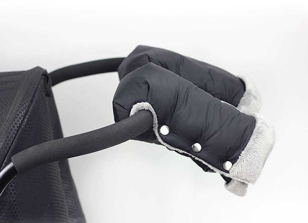 Waterproof Pushchair Handlebar Warmer Gloves Bvc Stroller Hand Muff Pram Accessory For Parents And Caregivers