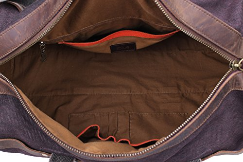 Iblue Weekend Bag Travel Duffel Bags For Men Canvas Carry On #B007(XL, coffee) by iblue (Image #7)