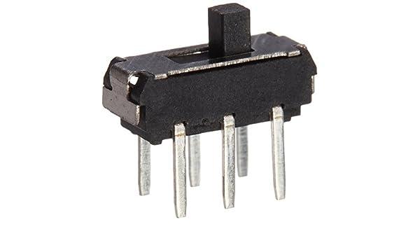 20 piezas de encendido/apagado / encendido DPDT 2P2T 6 pasador Vertical laminocultivos Interruptor 9x4x3.5mm: Amazon.com: Industrial & Scientific