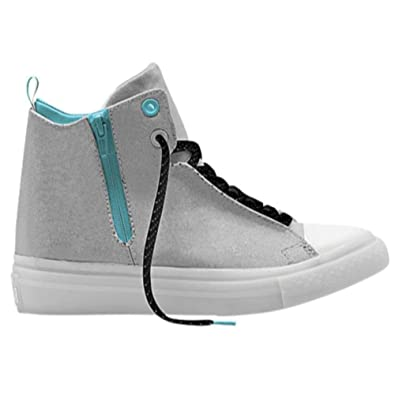 Converse Womens 553258C Canvas Hight Top Lace Up AQUA WHITE Size 6.0