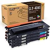 STAROVER Compatible Toner Cartridges Replacement for Samsung 404S CLT-K404S CLT-C404S CLT-M404S CLT-Y404S for Samsung Xpress SL-C430W SL-C430 SL-C480FW SL-C480W SL-C480FN SL-C480 Laser Printer - 4Pack