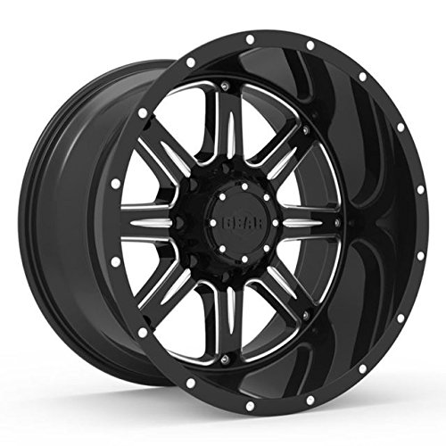 Gear Alloy 726BM BIG BLOCK Wheel with Milled Finish (20x12''/8x6.5'', -44mm Offset)