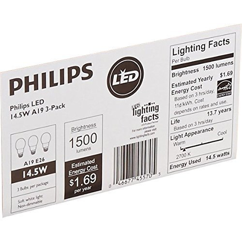 Philips-LED-Non-Dimmable-Frosted-Light-Bulb-Lumen-Kelvin-Daylight