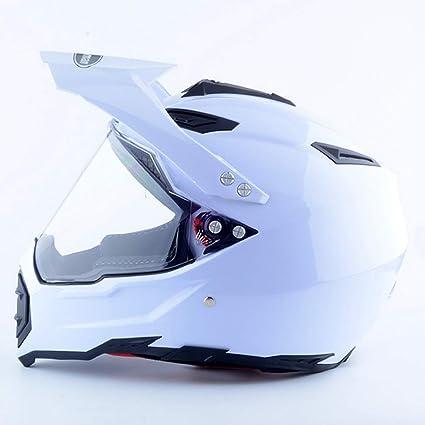 Lsrryd Casco de Cara Completa Dual Sport Off Road Casco de Moto de Seguridad Dirt Bike