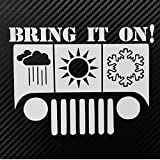 Jeep Weather 4x4 Style Decal Sticker Custom Die-cut Vinyl Turbo Lifted Hella Chevy Ford Drift Illest Truck