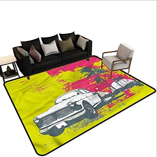 Grunge,Office Chair Floor Mat Foot Pad 64