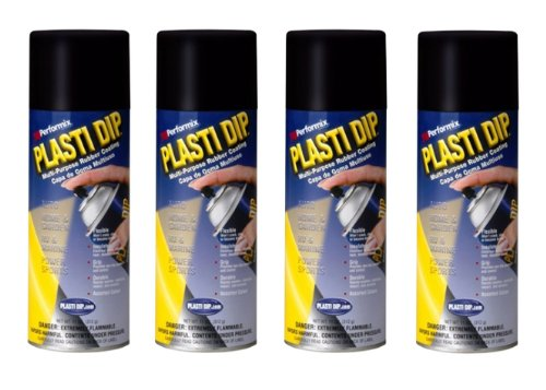 4 PACK PLASTI DIP Mulit-Purpose Rubber Coating Spray BLACK 11oz Aerosol