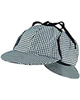 Sherlock Holmes Detective Cap Hat - Funny Party Hats, One Size, Black and White