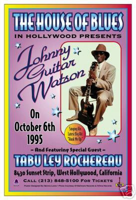 Johnny Guitar Watson Reprint Concert Poster (13.5x20)