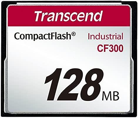 Transcend 128MB CF300 Memoria Flash 0,125 GB CompactFlash SLC - Tarjeta de Memoria (0,125 GB, CompactFlash, SLC, 57 MB/s, Negro)